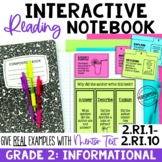 EDITABLE Reading Interactive Notebook   2nd Grade Informat