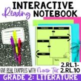 EDITABLE Reading Interactive Notebook | 2nd Grade Literatu