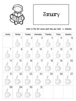 EDITABLE Reading Log Calendars