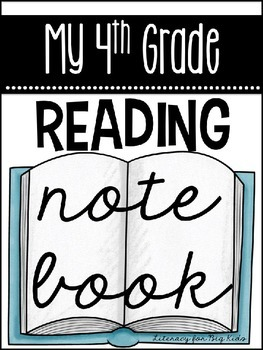 {EDITABLE} Reading Notebook Cover Pages