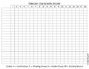 EDITABLE Reading Recording Sheets