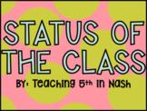 EDITABLE | Reading Status & Status of the Class | Google Slides
