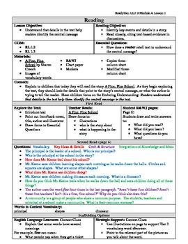EDITABLE ReadyGen Grade 1 Unit 2 Module A Lesson 1