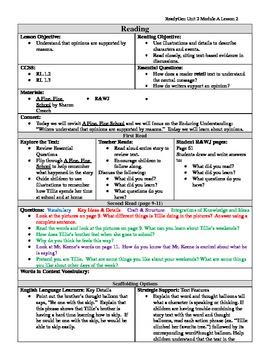 EDITABLE ReadyGen Grade 1 Unit 2 Module A Lesson 2