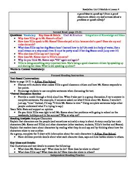 EDITABLE ReadyGen Grade 1 Unit 2 Module A Lesson 4