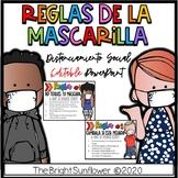 EDITABLE Reglas de la Mascarilla - Distanciamiento Social
