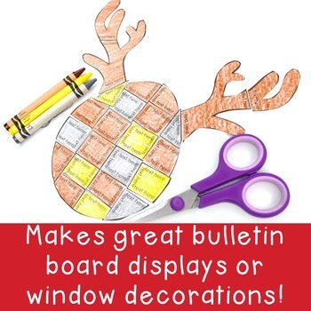 EDITABLE Reindeer Activities - Make your own Math, Literacy, or Other Puzzles!