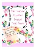 EDITABLE Relief Teacher Template Summer Fruit Theme