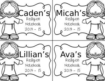 EDITABLE Religion Labels