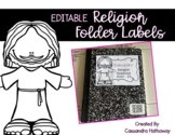 EDITABLE Religion Labels