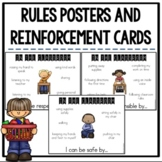 EDITABLE PBIS Respectful, Responsible, and Safe Rules Posters and Cards
