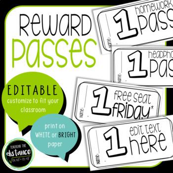 EDITABLE Reward Passes
