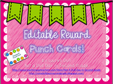 EDITABLE Reward Punch Cards!