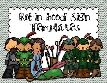 EDITABLE Robin Hood Sign Templates