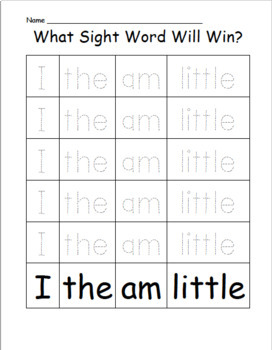 EDITABLE Roll a Dice- Sight Word Game