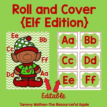 EDITABLE Roll and Cover {Elf Edition}