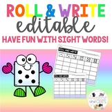 EDITABLE Roll and Write Activity