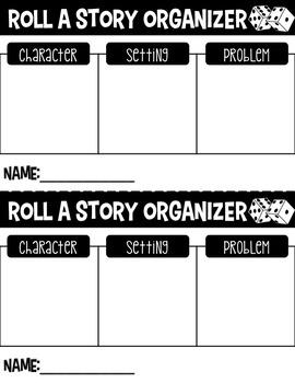Valentine's Day Writing EDITABLE Roll (or spin) a Story