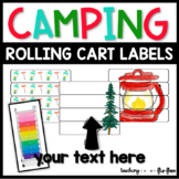 EDITABLE Rolling Cart Labels: CAMPING