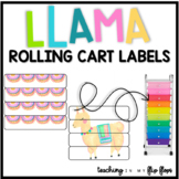 EDITABLE Rolling Cart Labels: LLAMA