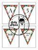 EDITABLE Rose Flags Pendants Bulletin Board Decor Letters Alphabet