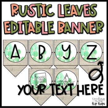 EDITABLE Rustic Leaves Banner