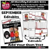 EDITABLE SEPTEMBER - FLIP BOOKS - MONTHLY NEWSLETTERS - CA