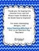 EDITABLE SET! Blue Chevron Task Cards