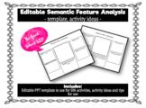 EDITABLE - Semantic Feature Analysis (SFA) Powerpoint Chart