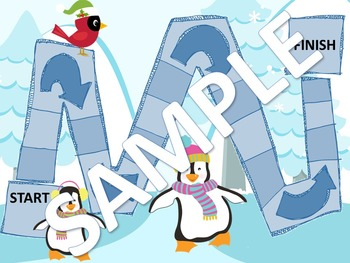 EDITABLE SIGHT WORD GAMES ARCTIC ANIMALS SANTA PENGUIN REINDEER