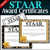 EDITABLE! --- STAAR Achievement Awards --Mastery --Advance