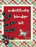 EDITABLE~ SUBSTITUTE TEACHER BINDER KIT