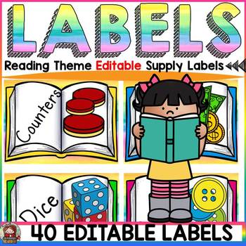 EDITABLE SUPPLY LABELS: READING THEME