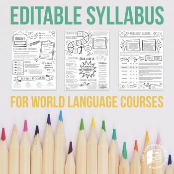 EDITABLE SYLLABUS for World Language courses