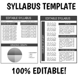 EDITABLE SYLLABUS | for any class, with graph | no special fonts needed