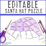 EDITABLE Santa Hat Activities | Make Your Own Puzzles - Math, Literacy, or ANY!