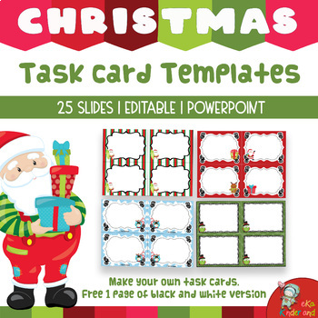 EDITABLE Santa Task Card Template PowerPoint [TeKa Kinderland]