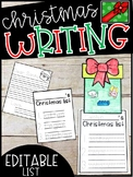 EDITABLE Santa Wishlist, Dear Santa Letter, and Santa Writing