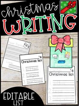 EDITABLE Santa Wishlist, Dear Santa Letter, and Santa Writing