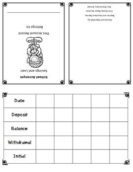 EDITABLE Santa's Workshop Account Record Booklet