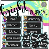 EDITABLE  Schedule | Bright Tropical Theme