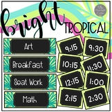 EDITABLE Schedule | Bright Tropical Theme *no pictures
