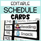 EDITABLE Classroom Schedule Cards