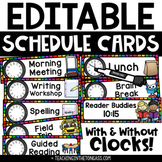 Daily Schedule Cards Editable | Visual Schedule Cards with Pictures