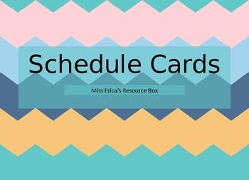 EDITABLE - Schedule Cards