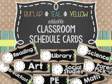 {BURLAP, TEAL, YELLOW, CHALKBOARD} Editable Schedule Cards