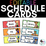 EDITABLE Schedule Cards