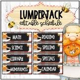 EDITABLE Schedule Lumberjack Theme