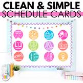 EDITABLE Schedule Signs (Analog Clock Version)