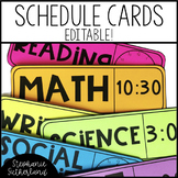 Class Schedule Cards: EDITABLE